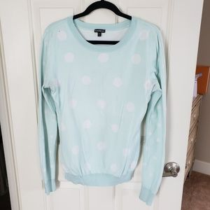 Express polka dot sweater